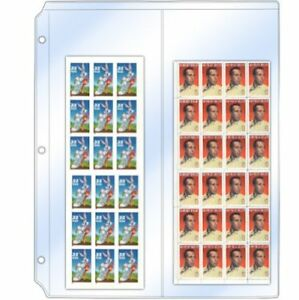 Storesmart Stamp Sheets photos Collector s Pages For 3 ring Binders Two 4
