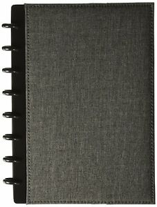 Levenger Circa Bookcloth Foldover Notebook Gray Ads8930 Gy Jnr