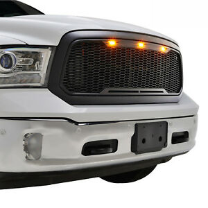 2013 2018 Ram 1500 Abs Front Replacement Grille Raptor Style Grill W Led Lights