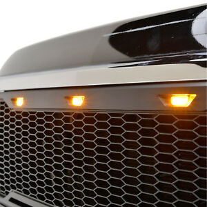 11 14 Chevy Silverado 3500 Grille Abs Replacement With 3 Led Lights
