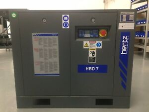 10 Hp Hertz Hbd7 Rotary Screw Air Compressor With 120 Gallon Air Receiver Tank