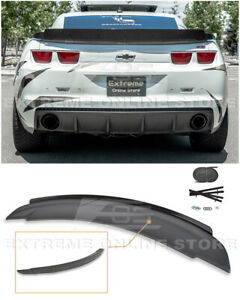 Zl1 Style Rear Trunk Wing Spoiler W Wickerbill Insert For 10 13 Chevry Camaro
