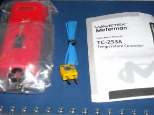 Wavetek Meterman Tc253a Temperature Converter Includes Tp255 Type K Probe