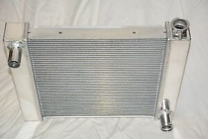 Universal Aluminum 24 X 19 Street Rod 2 Row Cross Flow Radiator Chevy Gm Outlets