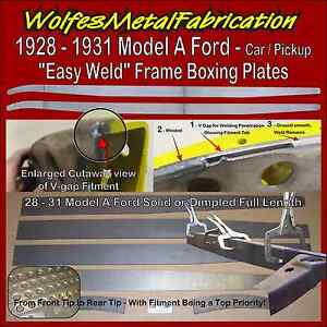 Model A Ford Frame 1 8 Easy Weld Boxing Plates 28 31