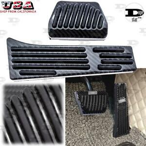 Set Carbon Fiber Foot Rest Pedals Cover Trim For Bmw 3 5 7 Series X1 X4 X3 X5 X6