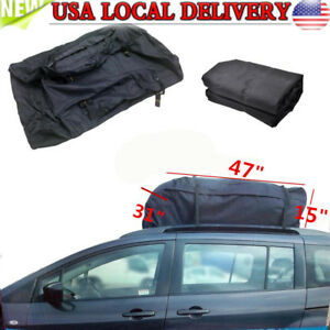 Universal Car Van Suv Cargo Waterproof Roof Top Carrier Bag Rack Storage Luggage
