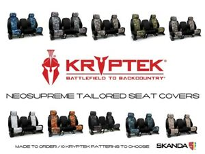 Coverking Kryptek Camo Neosupreme Front Rear Seat Covers For Toyota Tacoma