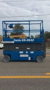 Genie Gs 2632 Scissor Lift Refurbished 1 Year Warranty