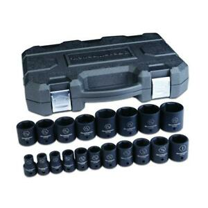 Gearwrench 84932n 19 Pc 1 2 Drive 6 Point Sae Impact Socket Set