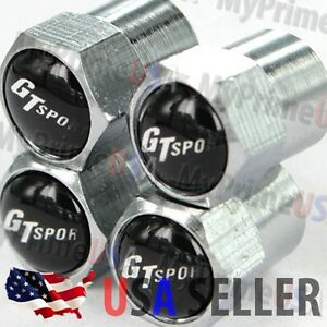 Gt Sport Valve Caps Logo Ford Mustang Stem Covers Chromed Roundel Car Emblem Usa