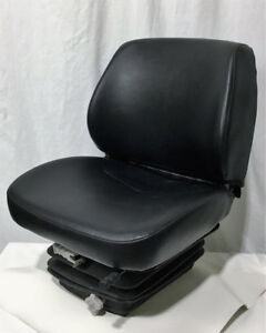 Short Back Black Vinyl Seat With Mechanical Suspension Small Cut On Boot