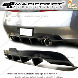 For 03 04 05 Infiniti G35 2dr Coupe 4 fins Rear Bumper Lower Diffuser Lip Kit