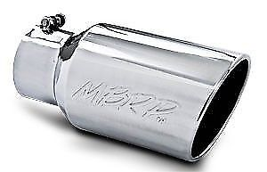 Mbrp 12 Stainless Steel Exhaust Tip Rolled Angled End 4 Inlet 6 Outlet T5073