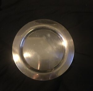 Oneida Silversmiths Silver Plated 7 1 2 Small Charger Saucer Plate Dishes