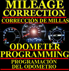 Toyota Speedometer Instrument Gauge Cluster Mileage Correction Odometer Program