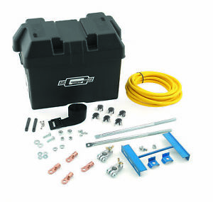 Mr Gasket 6279 Battery Box Kit Trunk Mounted For Up To 12 In Long Batteries