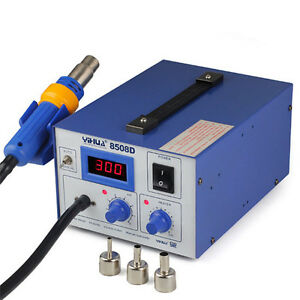 858d Soldering Rework Station Iron Welder Desoldering Hot Air Gun Tool 3 Nozzles