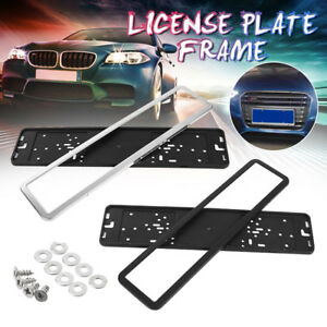 European Euro Uk Eu German Russian License Plate Holder Frame Car Universal New