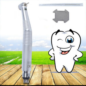 New Dental High Speed Fiber Optic Handpiece 4 Hole Led Push Button Fit For Kavo