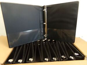 Case Of 18 Skilcraft 3 Ring Binders W Pockets 1 Black New