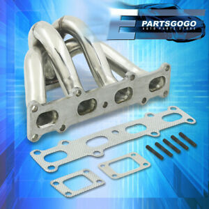 For 94 05 Mazda Miata Mx5 1 8l T2 T25 T28 Stainless Steel Exhaust Turbo Manifold