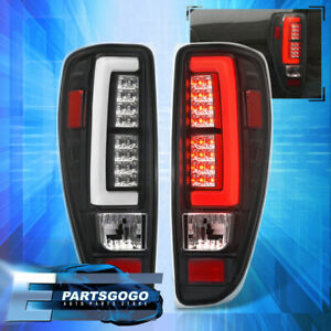 For 04 12 Chevy Canyon Colorado Led Tail Lights Lamps Black Housing White Tubes