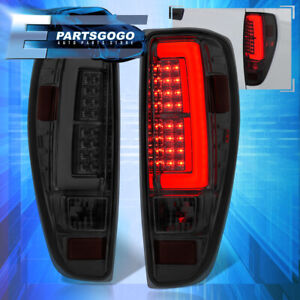 For 04 12 Canyon Colorado Tube Style Led Tail Lights Lamps Chrome Housing Smoked