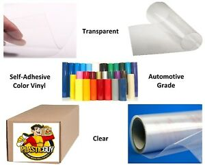 Clear Transparent Self adhesive Sign Vinyl 24 X 165 Ft Or 55 Yd 1 Roll