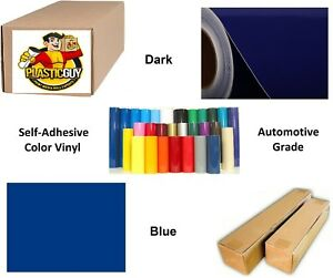 Sapphire Blue Self adhesive Sign Vinyl 24 X 165 Ft Or 55 Yd 1 Roll
