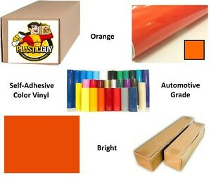 Orange Self adhesive Sign Vinyl 24 X 150 Ft Or 50 Yd 1 Roll