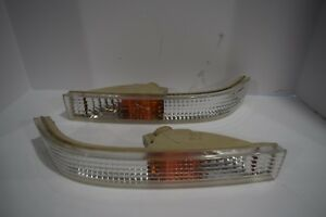 Jdm Honda Civic Ef9 Oem Front Bumper Light Turn Signal Pair Stanley 045 4000