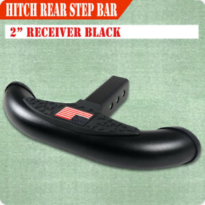 2 Usa Hitch Step Receiver Rear Step Bar For Universal Truck Trailer Towing Blk