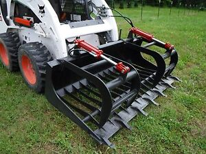 Bobcat Skid Steer Attachment 72 Rock Bucket Tooth Grapple Ship 149