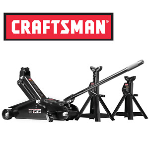 Craftsman 2 1 4 Ton Hydraulic Floor Jack Set W 2 Jack Stands Car Tool Home Kit