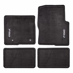 Oem New 2012 2014 Ford F 150 Super Cab Carpet Floor Mats Black Embroidered Logo