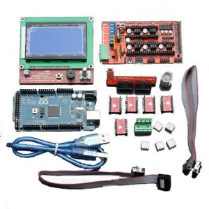 Lcd12864 Ramps 1 4 Board 2560 R3 Control Board A4988 Driver Kit For 3d Printer