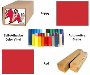 Poppy Red Self adhesive Sign Vinyl 15 X 150 Ft Or 50 Yd 1 Roll