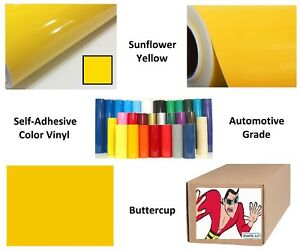 Sunflower Yellow Self adhesive Sign Vinyl 15 X 150 Ft Or 50 Yd 1 Roll