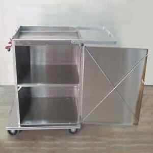 Royce Rolls Stainless Steel Super wide Mini Short Platform Cart special Shelves