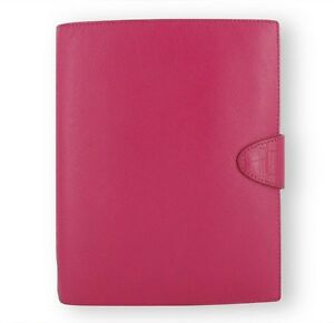 Filofax Daily Weekly Planner Calipso Deep Pink Leather A5 Organizer Agenda Di