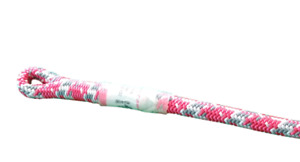Tachyon Pink Arborist Climbing Rope 7 100lbs Wspliced Eye Pink Grey And White