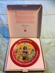 Coca-Cola Bottling Company of Los Angeles 75th Anniversary Plate