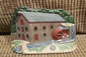 Antique Cast Iron Cottage Old Mill House Hand Painted