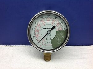 Enerpac Gf20p Hydraulic Pressure Gauge 0 To 10000 Psi 4in 1 2in Rc 25t