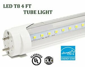 G13 4ft 20w 3000k Clear T8 48 Led Tube Fluorescent Replacement Bulb 2400 Lm Ek