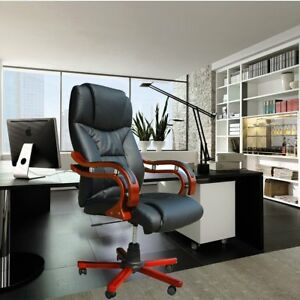Genuine Leather Executive Ergonomic Office Chair Gaming Computer Soft Desk Chair