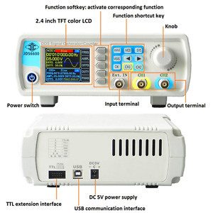 24 40mhz Jds 6600 Dual channel Dds Function Waveform Signal Generator Counter Js