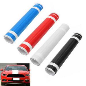 Diy Car Auto Decal Vinyl Graphics Stickers Hood Dual Racing Stripe For Mustang