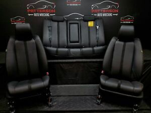 2007 Mazda Cx7 Front Rear Manual Black Bucket Leather Seats